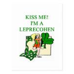 st patrick's day leprechaun jewish irish joke postcard