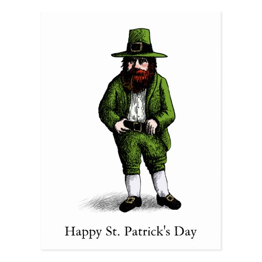 St. Patrick's Day Leprechaun Post Cards