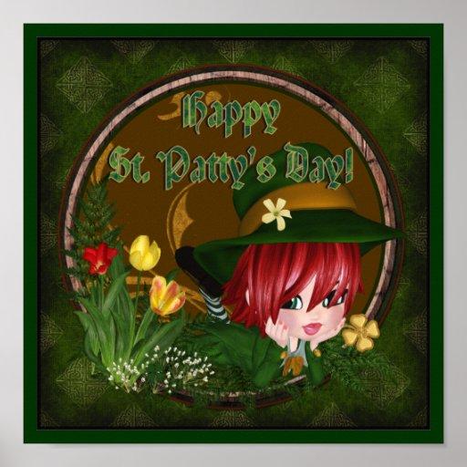 St. Patrick's Day Leprechaun Poster
