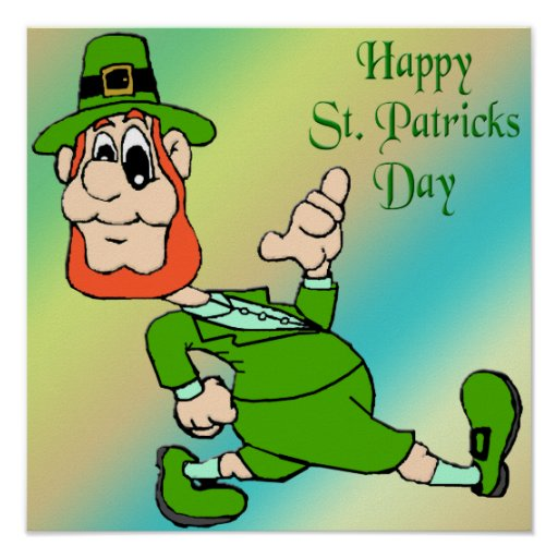 St Patrick's Day Leprechaun Poster