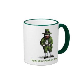 St. Patrick's Day Leprechaun Ringer Mug