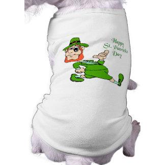 St. Patrick's Day Leprechaun Sleeveless Dog Shirt