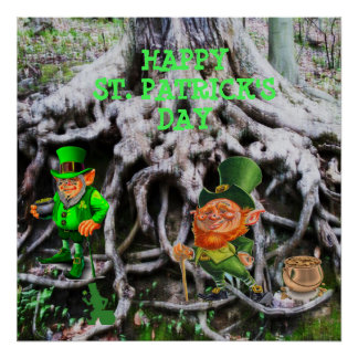 ST. PATRICK'S DAY LEPRECHAUNS poster