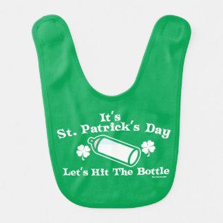 St. Patrick's Day | Let's Hit The Bottle Baby Bib