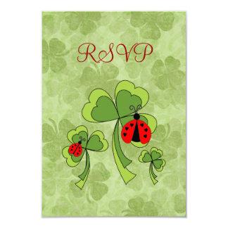St. Patrick's Day Love Bugs RSVP Card 9 Cm X 13 Cm Invitation Card
