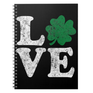St Patrick's Day LOVE Shamrock Irish Notebook