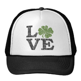 St Patricks Day LOVE with shamrock Cap