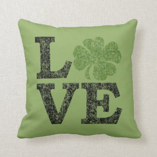 St Patricks Day LOVE with shamrock Cushion