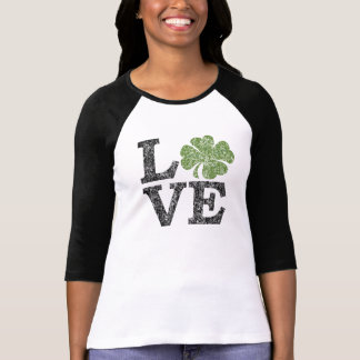 St Patricks Day LOVE with shamrock Tees