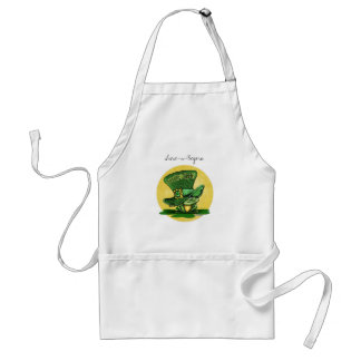 St Patricks day - Luck o the Green Adult Apron