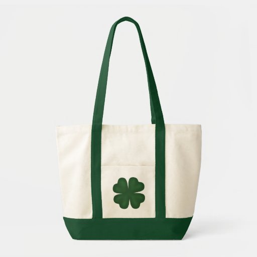 St. Patrick's day lucky 4 leaf clover Canvas Bags