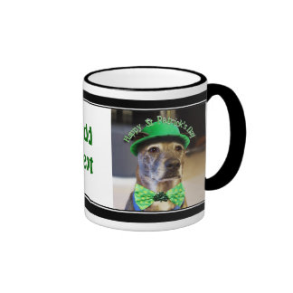 St Patrick's Day Lucky Dog Ringer Mug