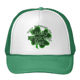 St. Patrick's Day Lucky Drinking Hat Mesh Hat