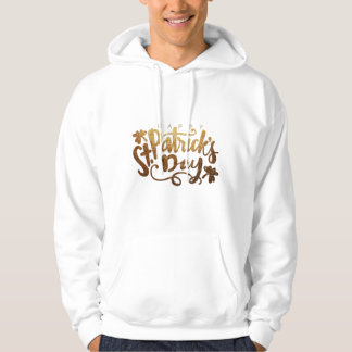 St Patrick's Day. Lucky Gold Clover. Hoodie