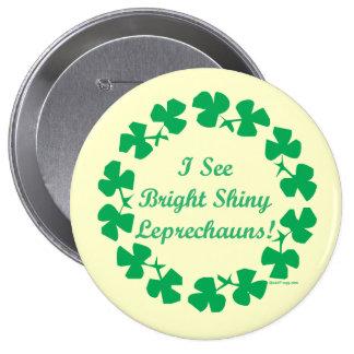 St. Patricks Day Lucky Leprechaun Button