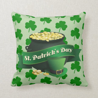 St Patrick's Day Lucky Pot Of Gold Cushion