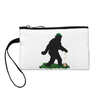 St Patrick's Day Lucky Sasquatch Coin Wallets