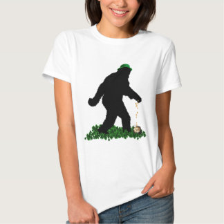 St Patrick's Day Lucky Sasquatch Tee Shirts