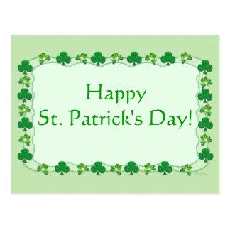 St. Patrick's Day - Magic Shamrocks Postcard