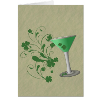 St Patrick's Day Martini Card