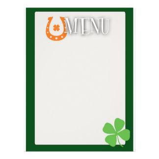 St Patrick's Day Menu 21.5 Cm X 28 Cm Flyer