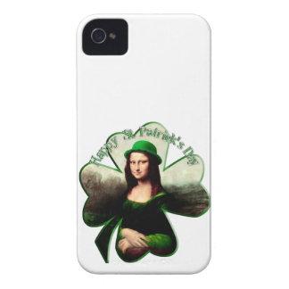 St Patrick's Day Mona Lisa Shamrock iPhone 4 Case