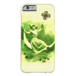 ST PATRICK'S  DAY MOON LADY WITH SHAMROCKS BARELY THERE iPhone 6 CASE