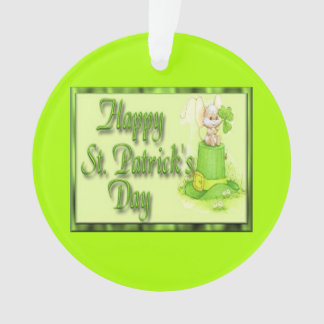 St Patricks Day Mouse Hat Clover Ornament