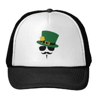 St. Patricks Day Moustache Shirt Hats