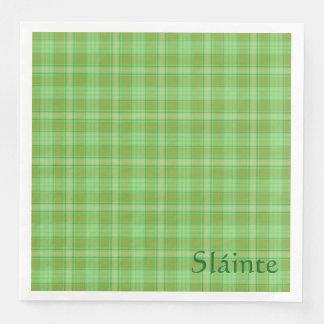 St Patrick's day napkin, Sláinte Irish party green Paper Napkin