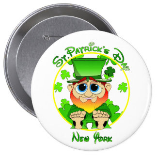 St Patrick's Day New York 10 Cm Round Badge