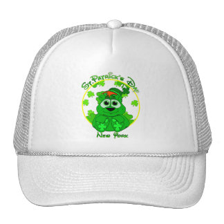 St Patrick's Day New York Mesh Hat