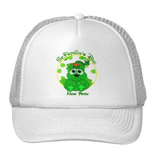 St Patrick's Day New York Mesh Hat