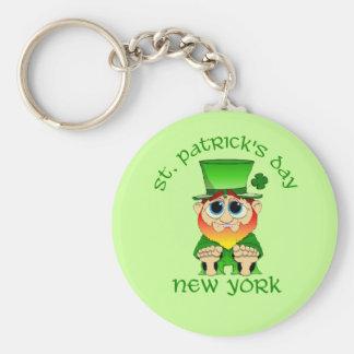 St Patricks Day ~ New York lil Blarney Basic Round Button Key Ring
