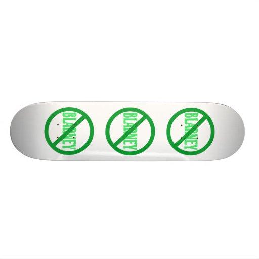St. Patrick's Day No Blarney Allowed Custom Skate Board
