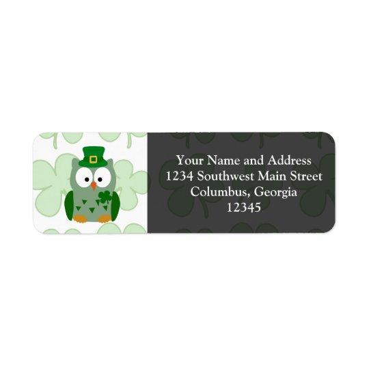 St. Patrick's Day Owl
