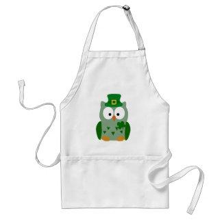St. Patrick's Day Owl Standard Apron