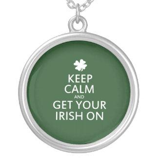 St Patricks day Parody Round Pendant Necklace
