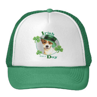 St. Patrick's Day Parson Russell Terrier Cap