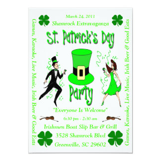 St. Patrick's Day Party 13 Cm X 18 Cm Invitation Card