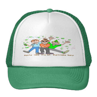 St Patrick's Day Party Mesh Hats