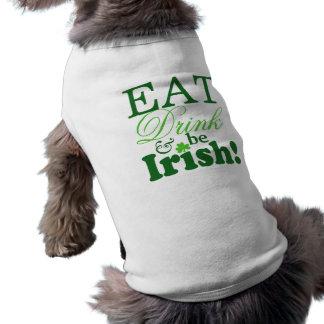 St. Patrick's Day Party Cute Sleeveless Dog Shirt
