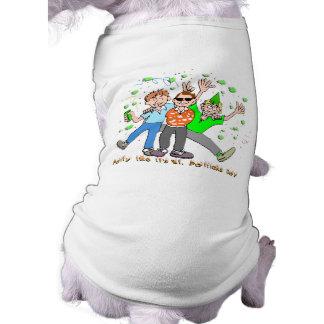 St Patrick's Day Party Sleeveless Dog Shirt