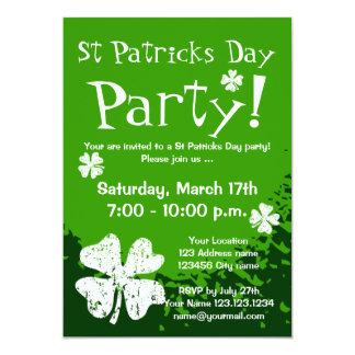 St Patricks Day party invitations   Customizable