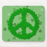 St Patrick's Day Peace Sign Mouse Pad