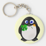 St. Patrick's Day Penguin Keychains