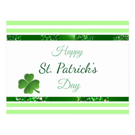 St Patrick's Day Personalised Post card