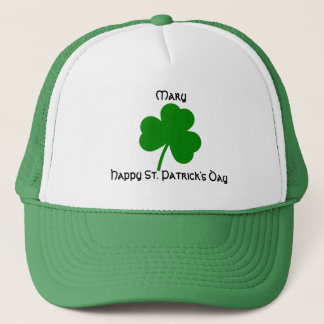 St. Patrick's Day Personalized Shamrock Trucker Hat