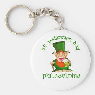 St Patricks Day ~ Philadelphia Basic Round Button Key Ring