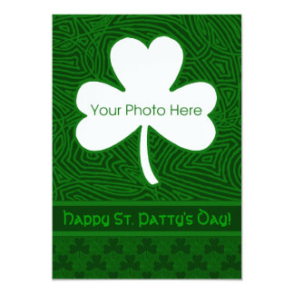 St. Patrick's Day Photo 13 Cm X 18 Cm Invitation Card